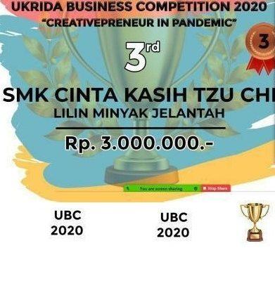 Juara 3 di UKRIDA Business Comp.2020