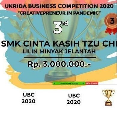 SMK Cinta Kasih Tzu Chi Memperoleh Juara 3 di UKRIDA Business Competition 2020